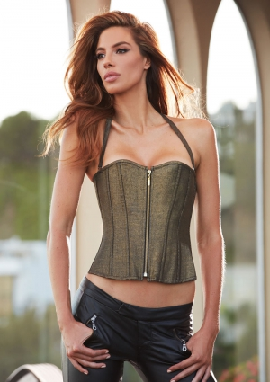 METALLICS CORSET GOLD X-LARGE (DISC)