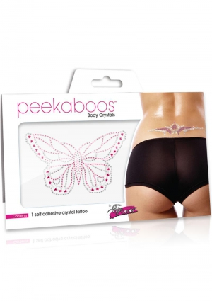 Body Crystals - Large Pink Butterfly