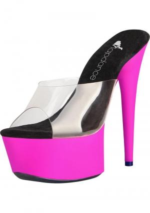 6 Clrandpnk Uv Platform Sandal Sz 6