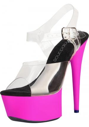 7 Clrandpnk Uv Sandal W/ Strap Sz 6