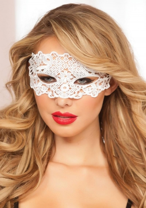 Galloon Lace Eye Mask White One Size