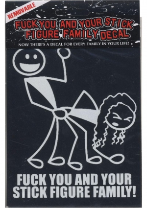 Fu And Ur Stick Figure Family Window Decal