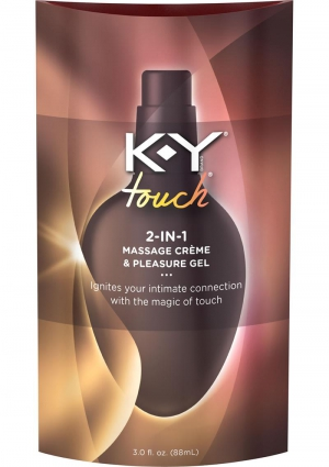 KY TOUCH 2-IN-1 MASSAGE CREME and GEL 3 OZ