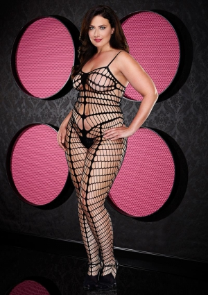 SMOKIN HOT SEAMLESS BODYSTOCKING-BLACK-Q
