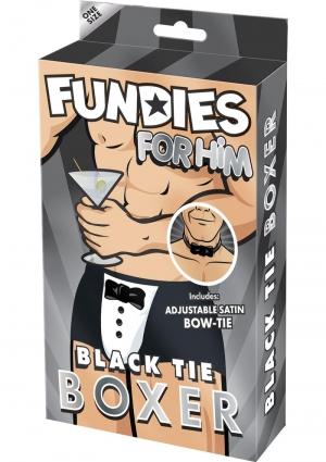 FUNDIES BLACK TIE BOXER W/ BOW TIE-O/S