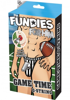 FUNDIES REFEREE SET-G-STRING W/WHISTLE-O
