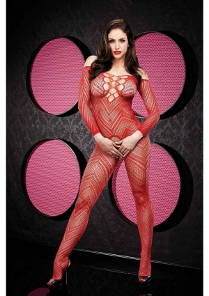 VIP LONGSLEEVE CROTCHLESS BODYSTOCKING-R
