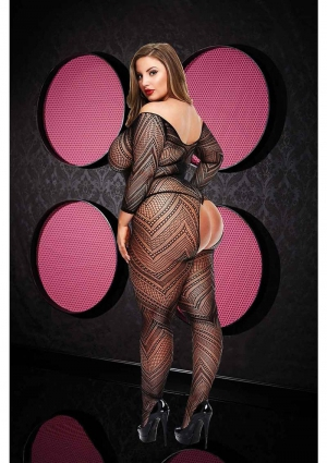 VIP LONGSLEEVE CROTCHLESS BODYSTOCKING-X