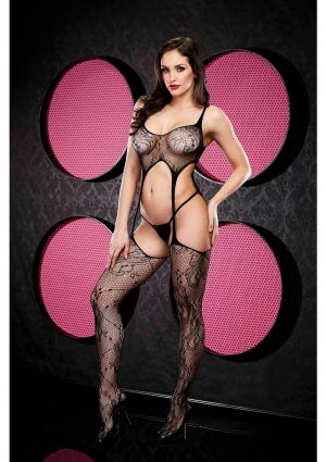 SEXY SUSPENDER BODYSTOCKING-BLACK-O/S