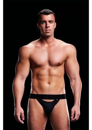 LOW RISE JOCK BLACK-SMALL/MEDIUM