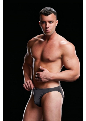 LOW RISE BRIEF GREY-MEDIUM/LARGE