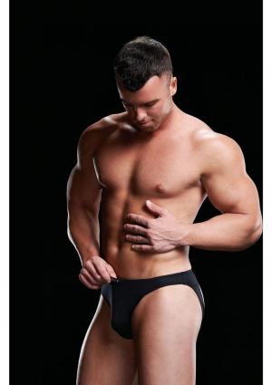 LOW RISE BRIEF BLACK-SMALL/MEDIUM