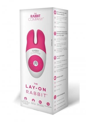 LAY-ON RABBIT-HOT PINK