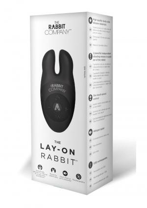 LAY-ON RABBIT-BLACK