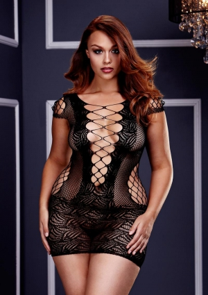 CORSET FRONT LACE MINI DRESS-QUEEN