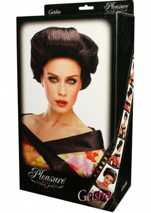 GEISHA WIG - BLACK (DISC)