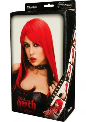 MARILYN WIG - RED W/ BLACK