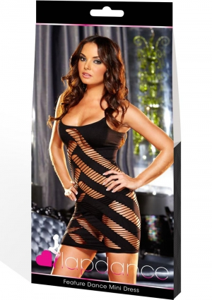 FEATURE DANCE MINI DRESS-BLACK