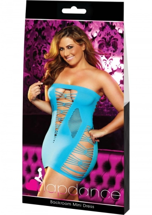 Backroom Mini Dress Blue Plus Size