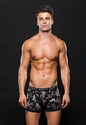 LGO ELSTC BXR BRIEF M/L GRAY CAMO
