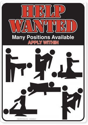 Help Wanted Many Positions Metal Sign