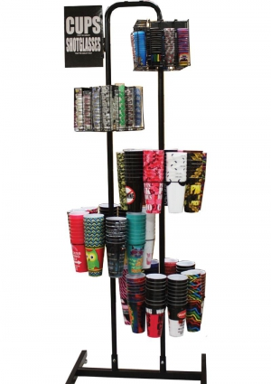 Plastic Cup And Shot Glass Display Only