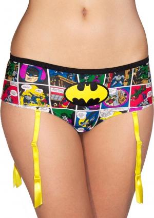 Batman Comic Strip Panty With Garter-X-Large