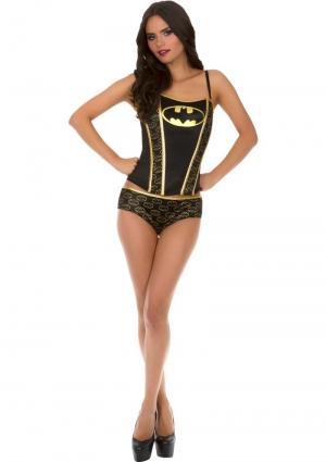 Batman Printed Corset Panty Set-3x/4x