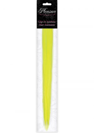 Hair Clip In- Neon Yellow